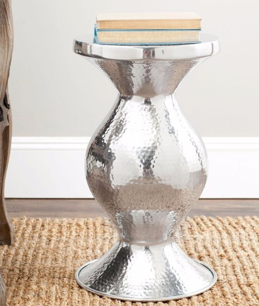 Contemporary End Table Crafted Aluminum Living Room Furniture In ...
