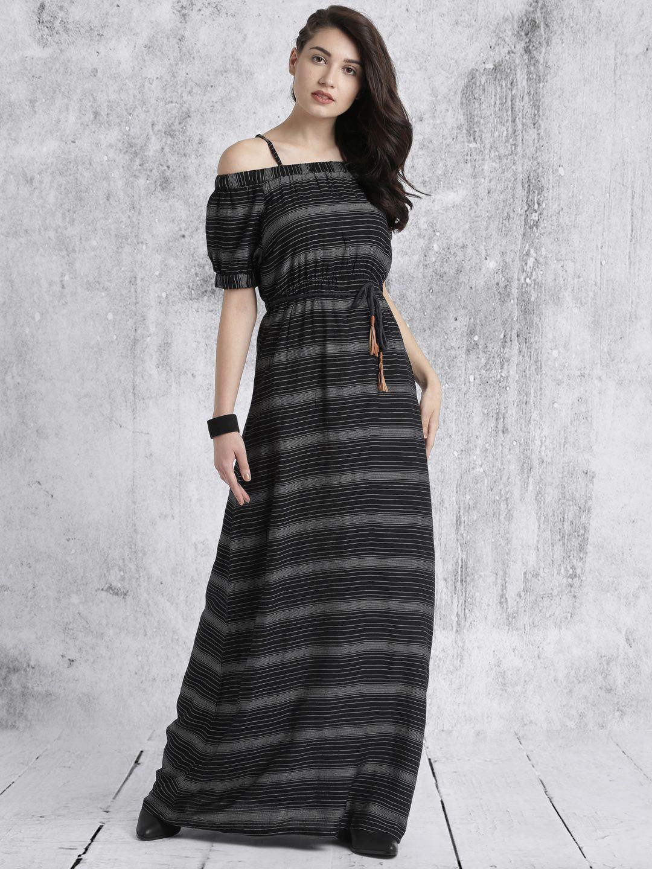 Roadster Black Striped Maxi Dress Maxi Dress Striped Maxi Dresses Dresses [ 1440 x 1080 Pixel ]