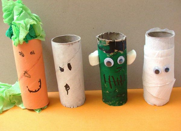 150+ Homemade Toilet Paper Roll Crafts Toilet paper roll crafts - preschool halloween decorations