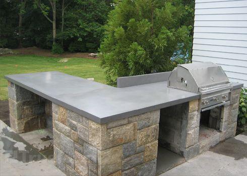 Concrete Countertops Outdoor Kitchen - BSTCountertops
