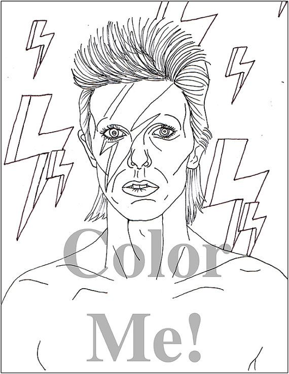 David Bowie Tribute Coloring Page One Dollar by ColorMeRadOTPS ...