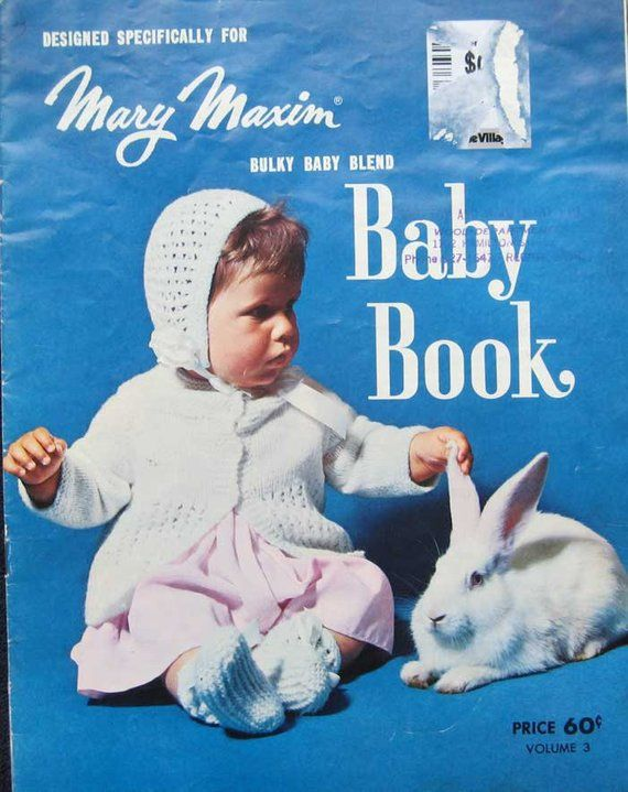 cdfb5db7d Vintage Mary Maxim Baby Knitting Book in 2019