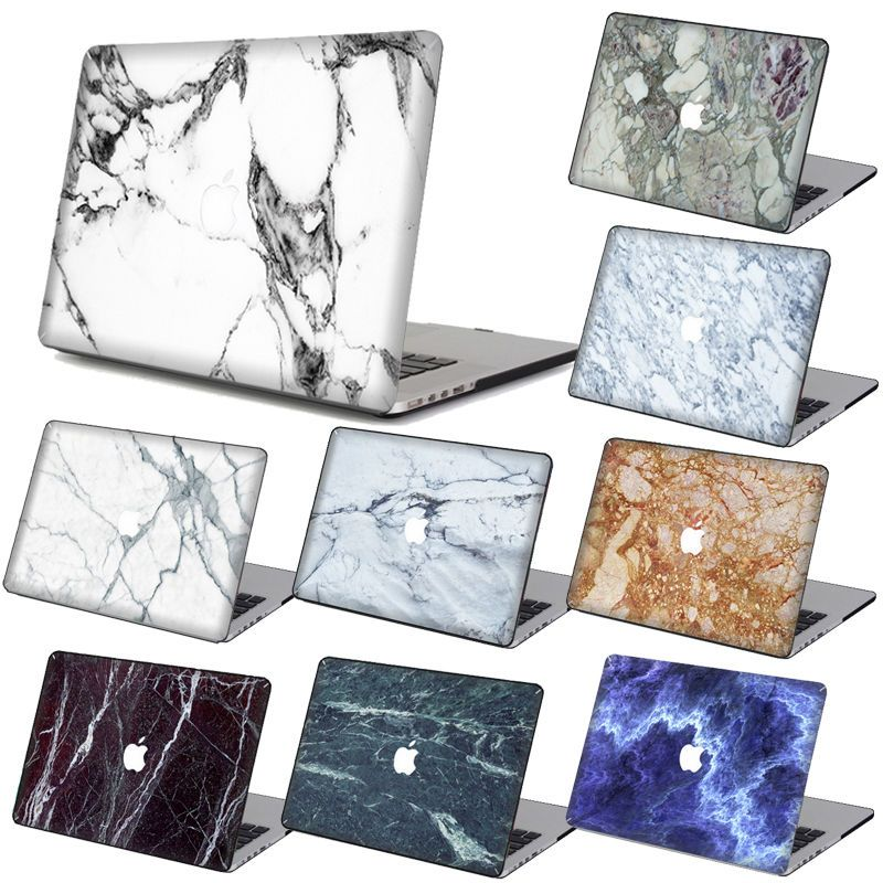 Marble Skin Print Rubberized Hard Case Cover KB+SP For Macbook Pro Air 11 13 15