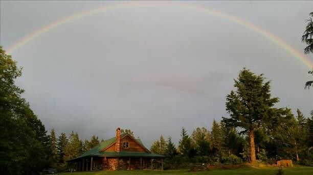 Rainbow evening in Oregon