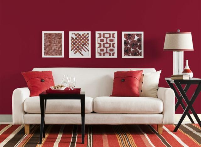 Une déco de salon avec du tempérament chaud en rouge | appartement ...
