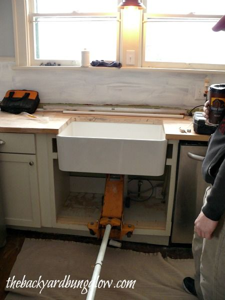 Installing A Farmhouse Sink Thebackyardbungalow Com Farmhouse