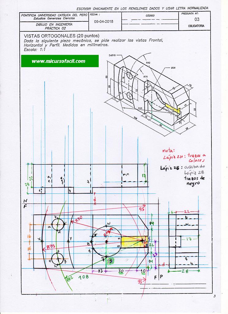 Dibproyisompc2 18i 296 Si1 Geometria Descriptiva Geometria Ingenieria