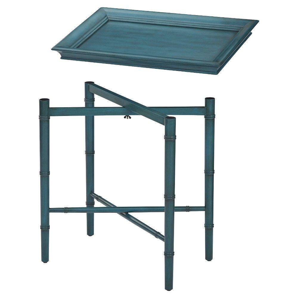 Designs Salem Folding Serving Tray Blue - Office Star