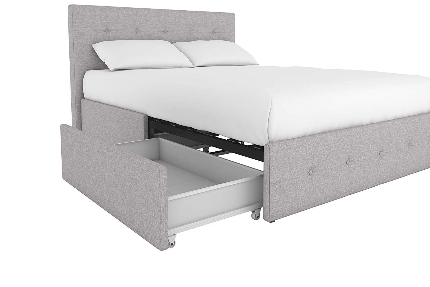 Amazon Com Dhp 4155439 Rose Upholstered Bed With Tufted Detail