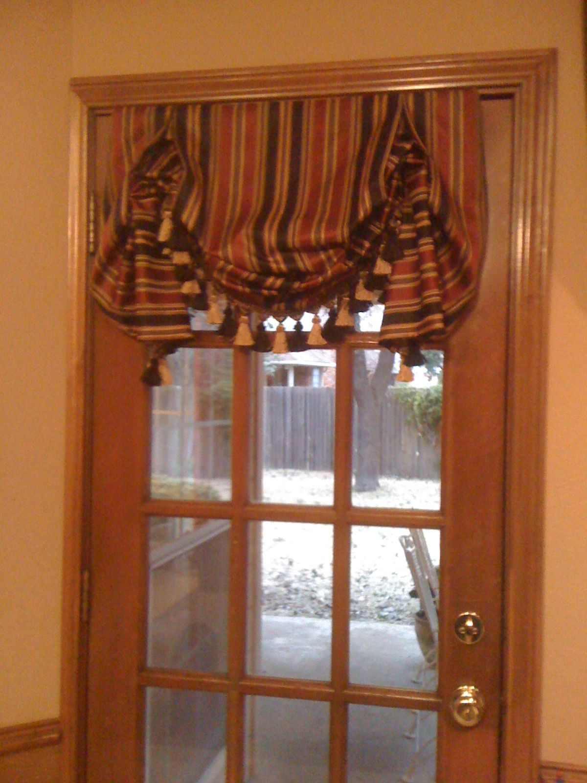 Back door window valance idea curtain ideas pinterest valance