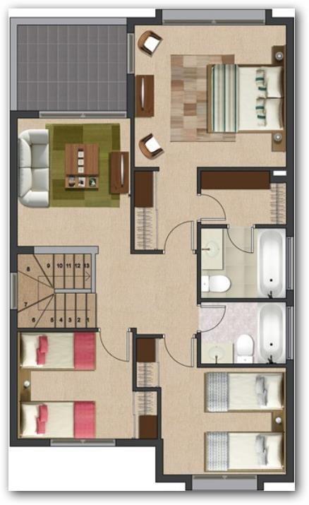 Planos De Casas Mexicanas De Un Piso Buscar Con Google Planos De Casas Planos De Casas Modernas Plano Casa 2 Pisos