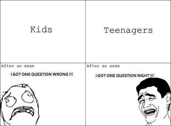 Kids Vs Teenagers Rage Comics Funny Exams Memes Kid N Teenagers