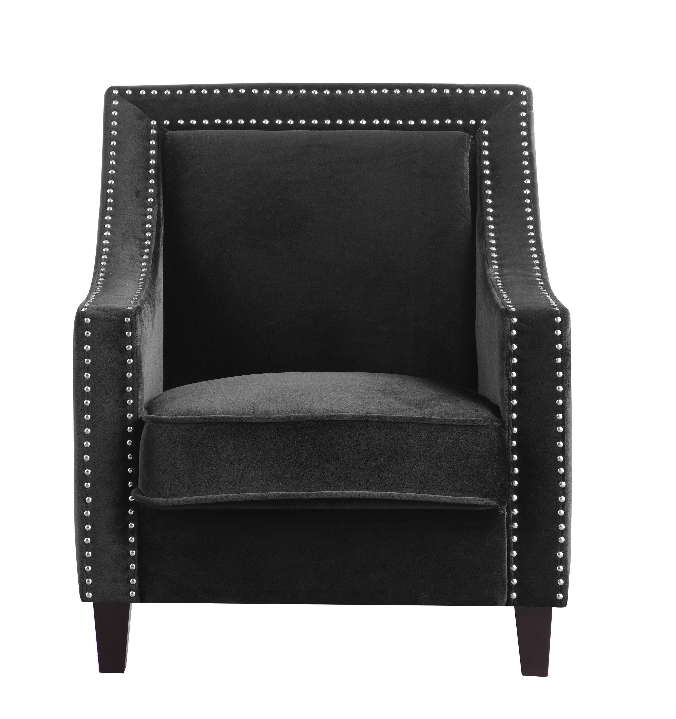 Best Iconic Home Camren Accent Chair Velvet Upholstered 400 x 300