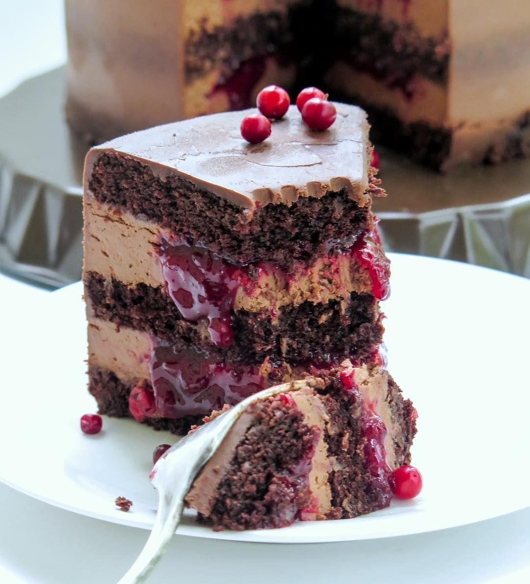 Шоколадно-брусничный торт (с изображениями) | Идеи для ...
