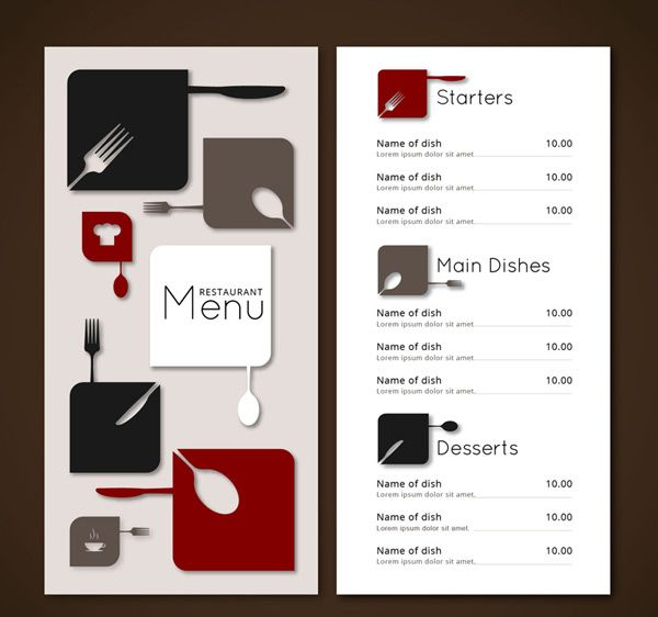 Stylish Restaurant Menu Vector AI