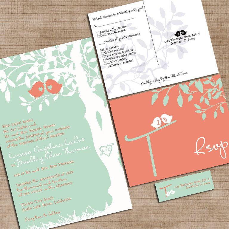 mint green and coral wedding invitations custom by invitingmoments Wedding Invitation Kits Coral mint green and coral wedding invitations custom by invitingmoments wedding invitation kits cheap