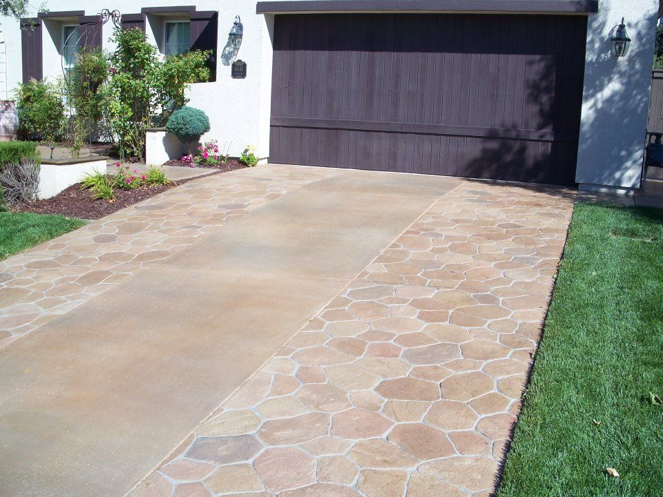 A stamped concrete driveway can enhance curb appeal almost instantly. Mix and match patterns all you want. CALL us at (323) 319-5230 for more info.