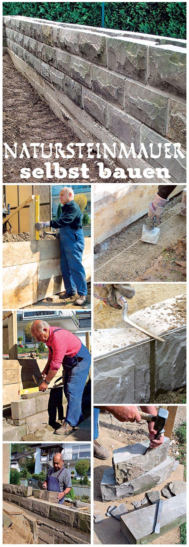 Natursteinmauer Bauen Mauern Zaune Sichtschutz Pinterest
