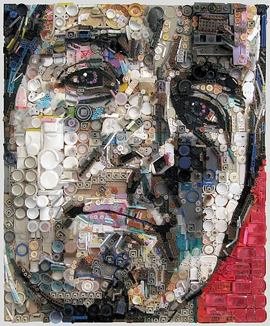 Zac freeman started creating assemblage artworks of this type in all artworks are made entirely out of collected junk found objects and general trash