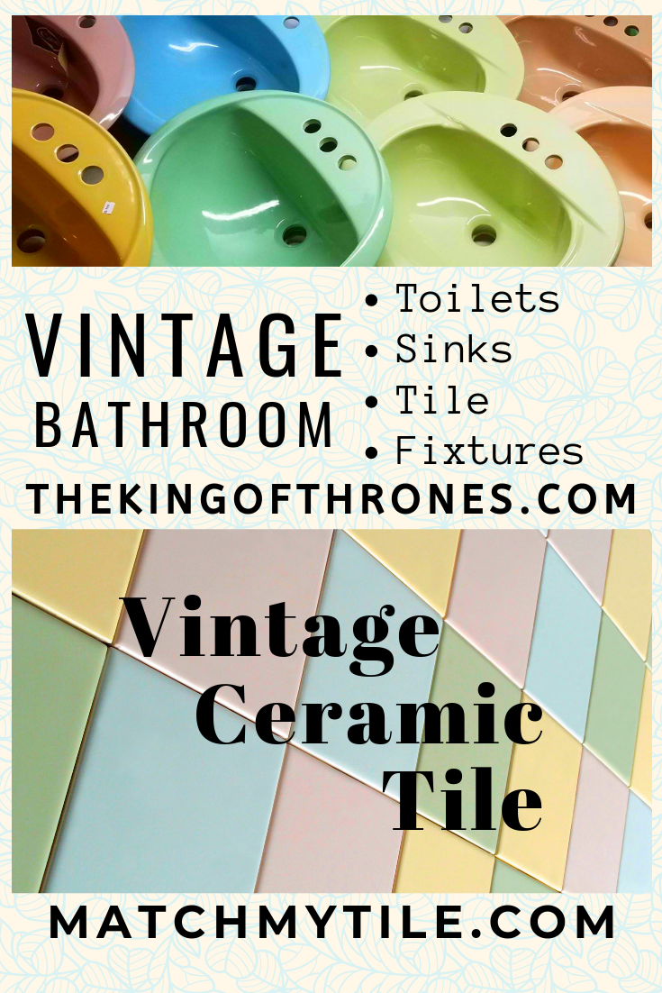 Photo of Check out the huge inventory of vintage bathroom fixtures and ceramic tiles. We …