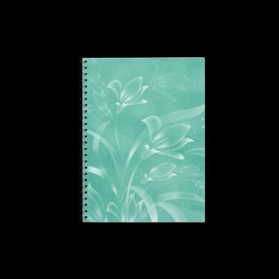 Green Flowers Notebook by esoticastore