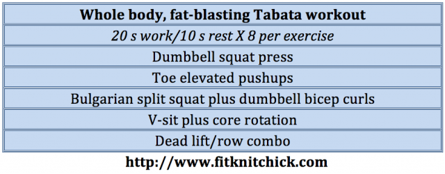 5 move, whole body tabata workout via @fitknitchick_1
