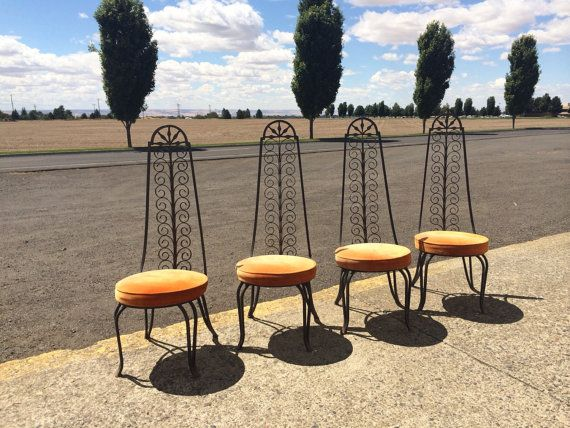 On HOLD -Wrought iron Patio furniture / Spanish revival style ...