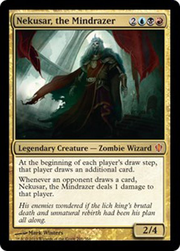 nekusar the mindrazer mtg magic the gathering card magic the
