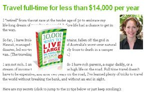 14000 Travel full time for Less Than $14,000 per Year