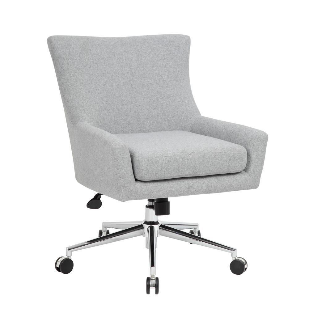 Boss Grey Linen Desk Chair B760c Gr Chair Home Office Chairs