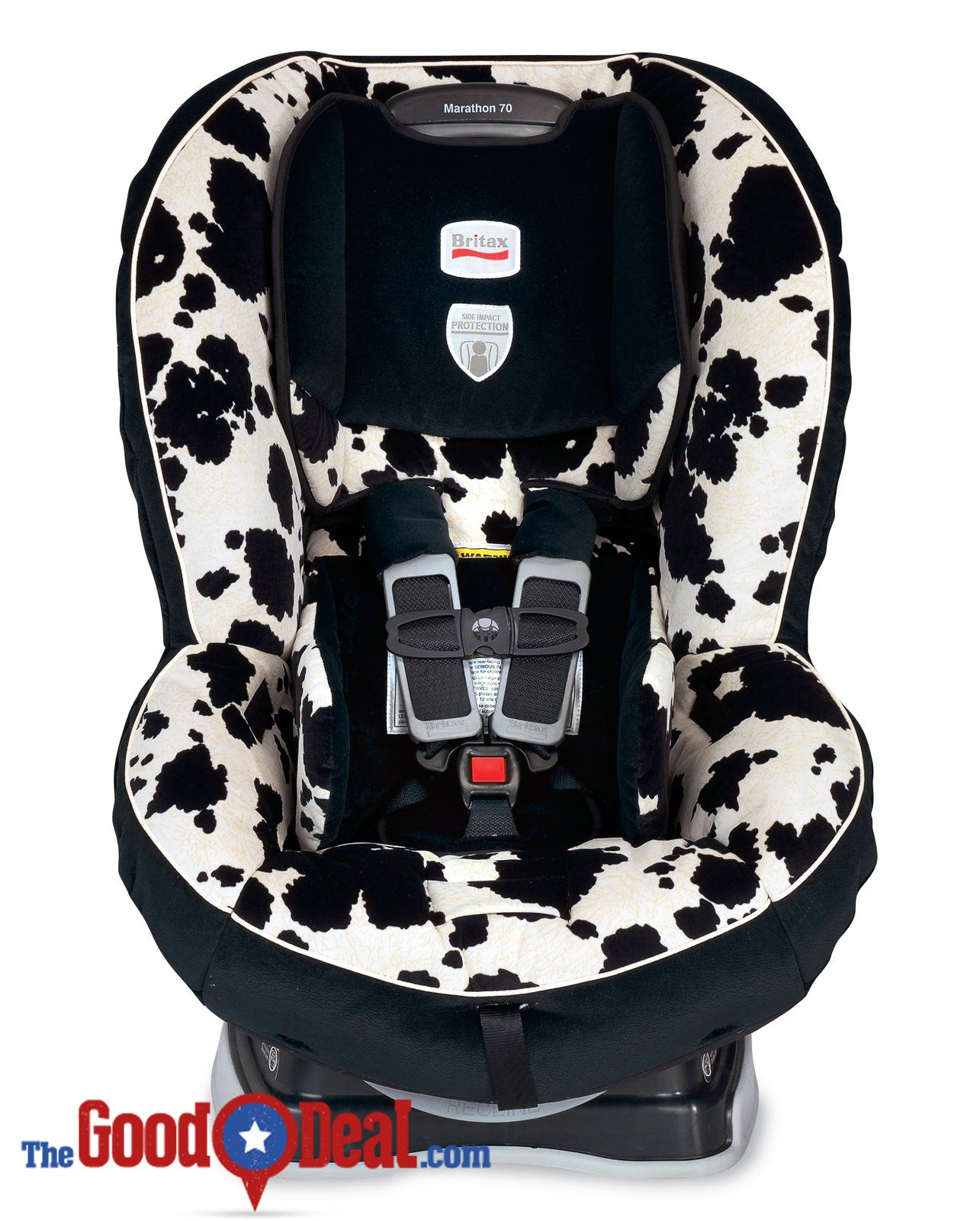 This Britax Marathon Cowmooflage Car Seat would certainly