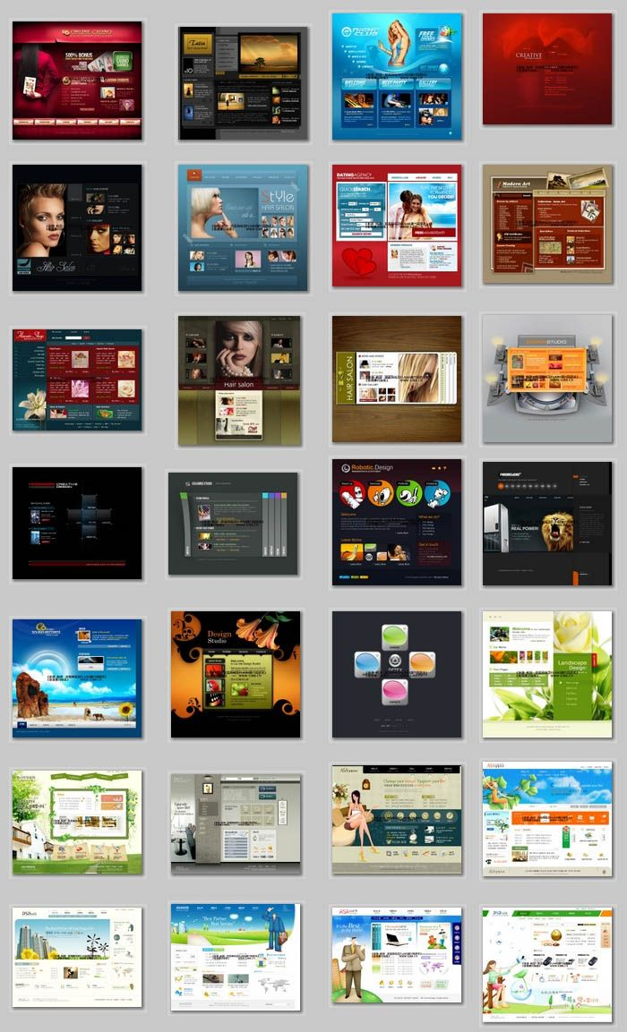 Free Web Templates Cool site w/many free templates. | Free Website ...