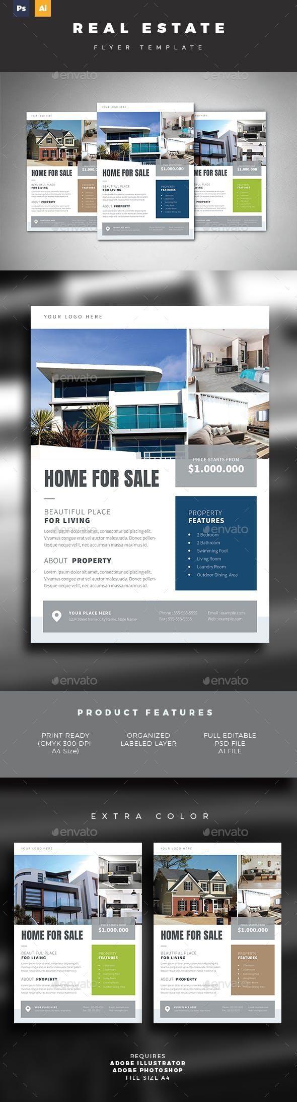 real estate flyer for  7  designcollection