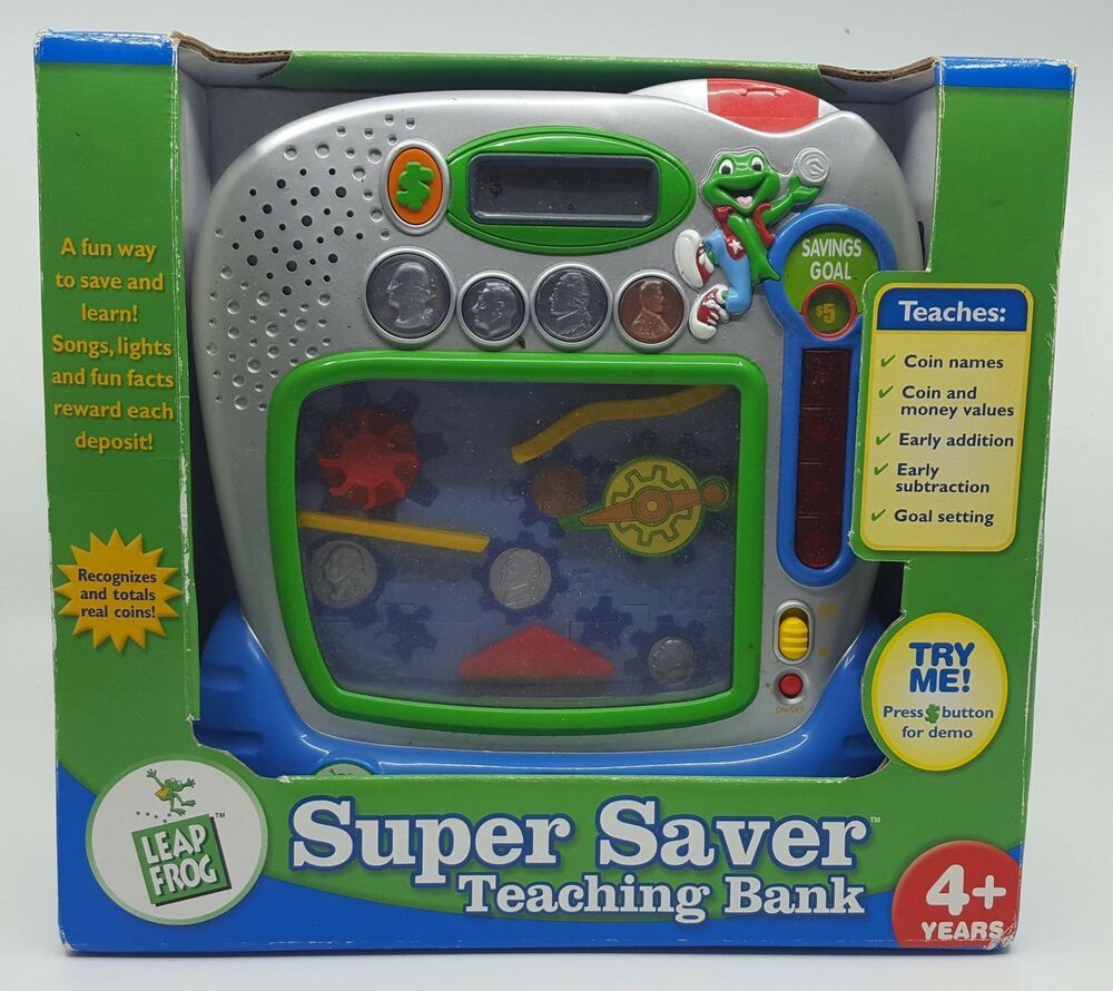 LeapFrog Super Saver Teaching Bank Real Coins Educational