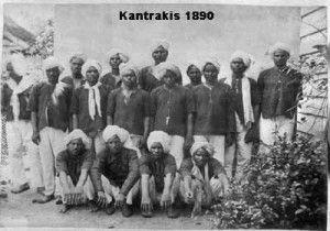 Kantrakis - Indiase immigranten/contractarbeiders in Suriname. klik foto om te lezen.