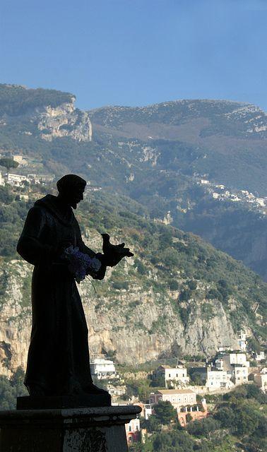 Saint Francis, above Positano, Italy