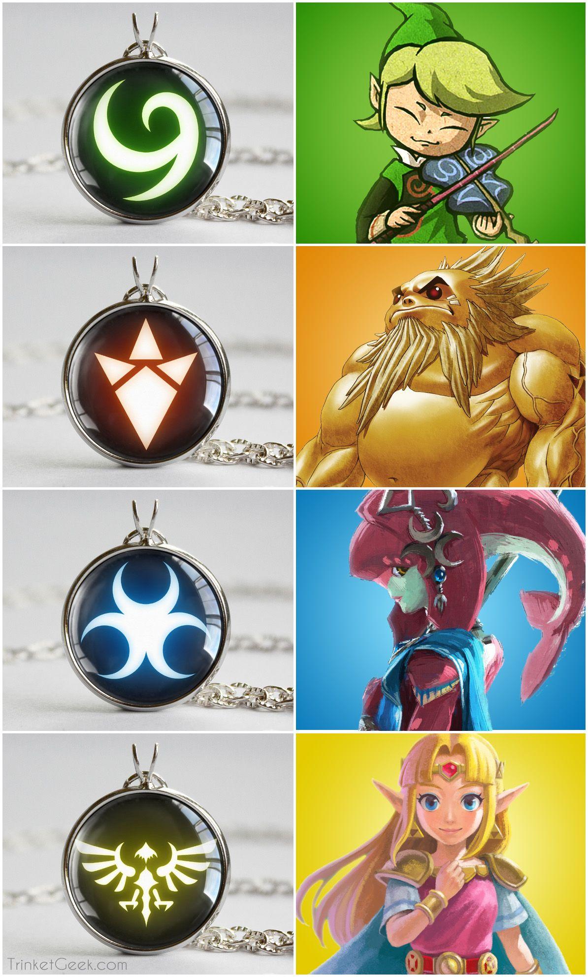 zelda race symbol pendants nintendo symbols and video games