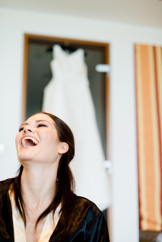 Eine entspannte Braut. :-)