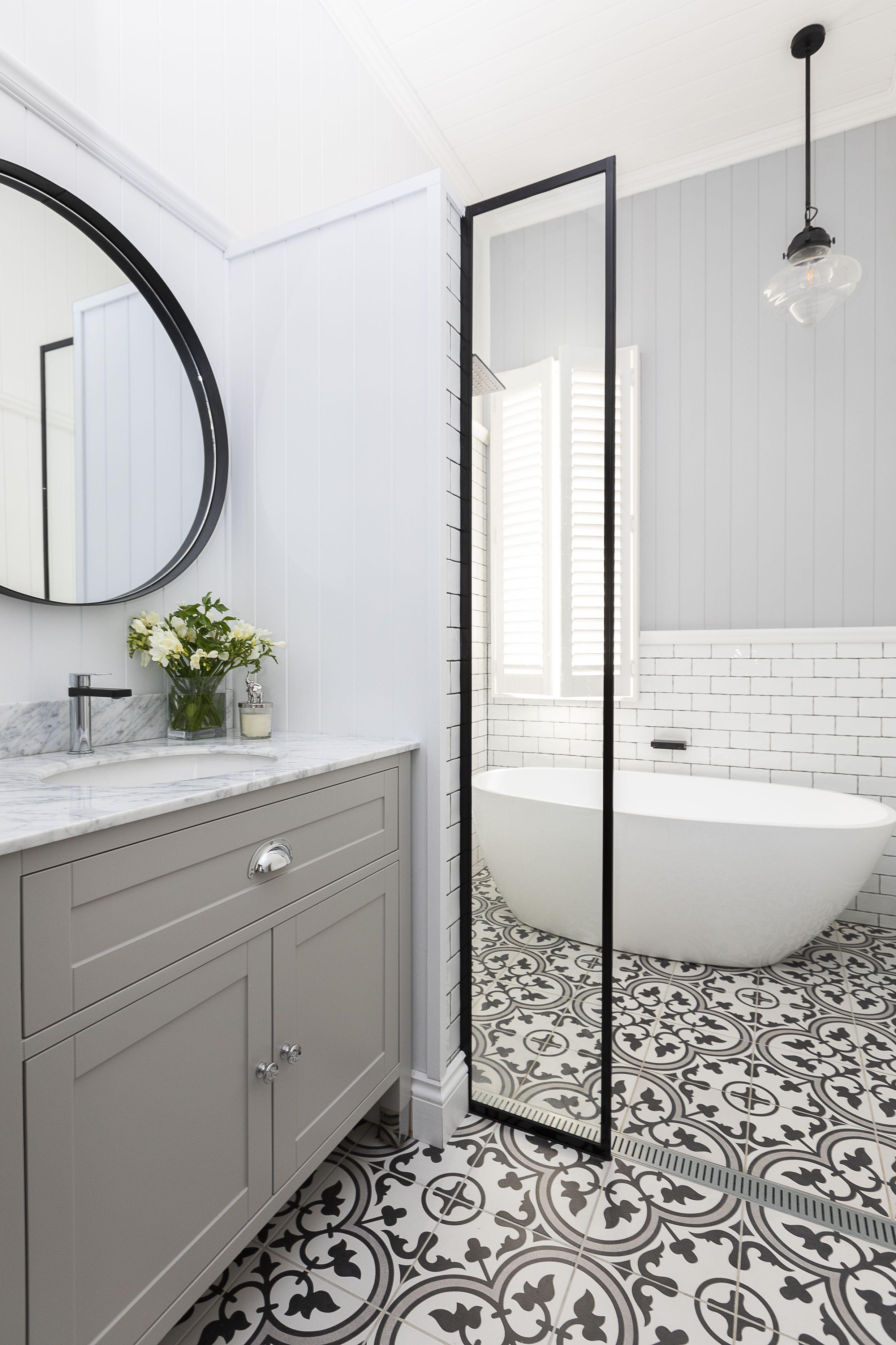 Grey Hamptons Vanity  Bathroom design, Bathroom styling, Hampton