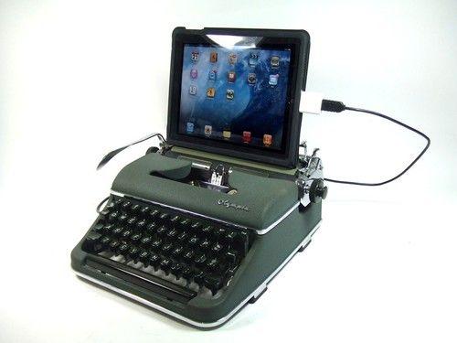 Typewriter IPAD dock
