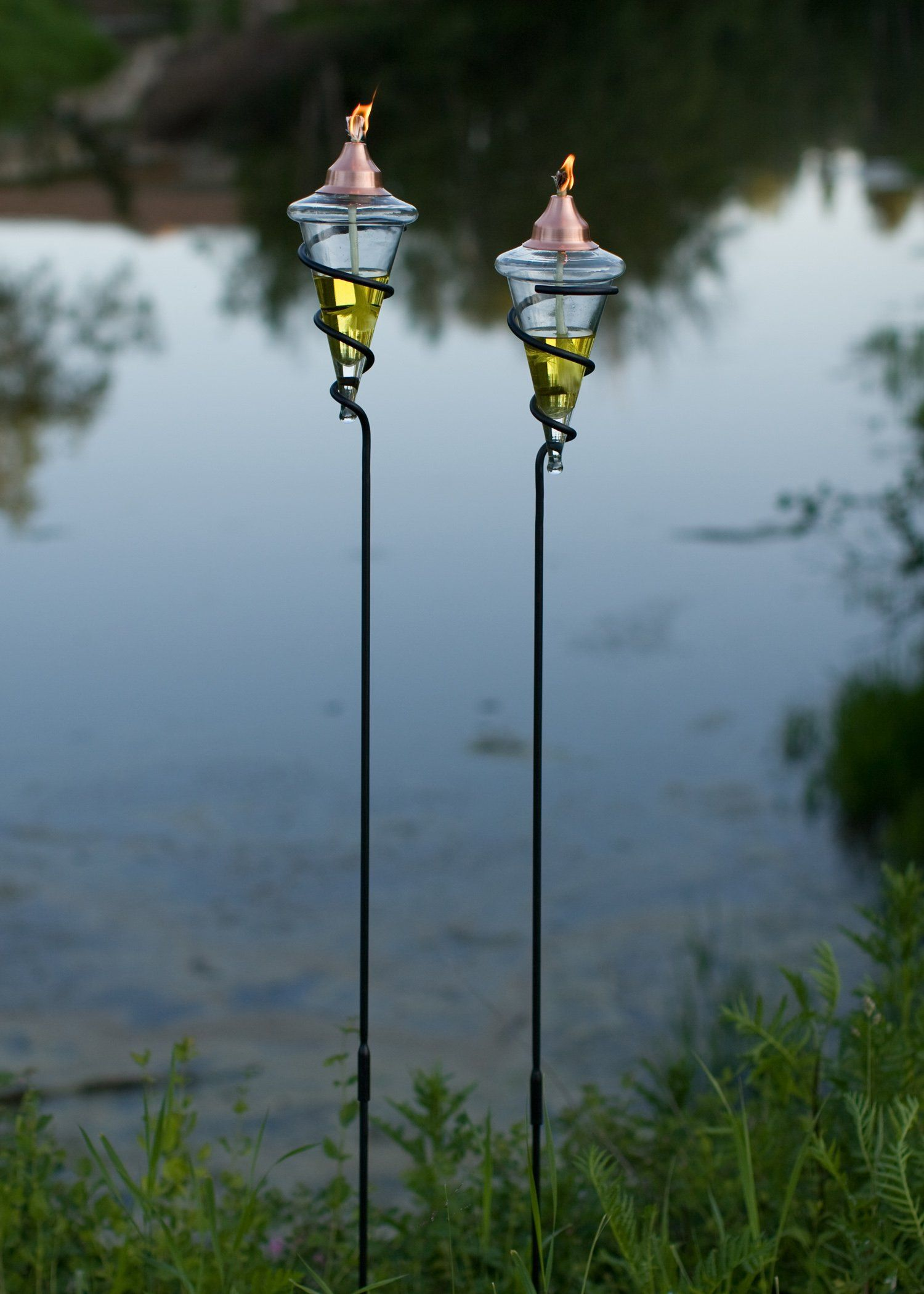lighting tiki torches. AmazonSmile : H Potter Garden Tiki Torches (Set Of Two) Landscape Torch Lights Lighting E