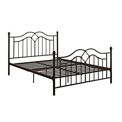 amazoncom vintage style queen full size rustic bed frame rustic bedroom furniture brushed