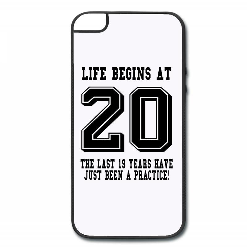 Life Begins At 20... 20th Birthday iPhone 5/5s Hard Case