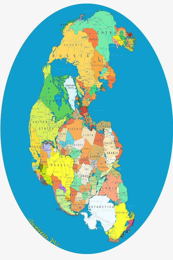 Map Of Pangea With The Present Day Country Names Maps - Earth map with country names