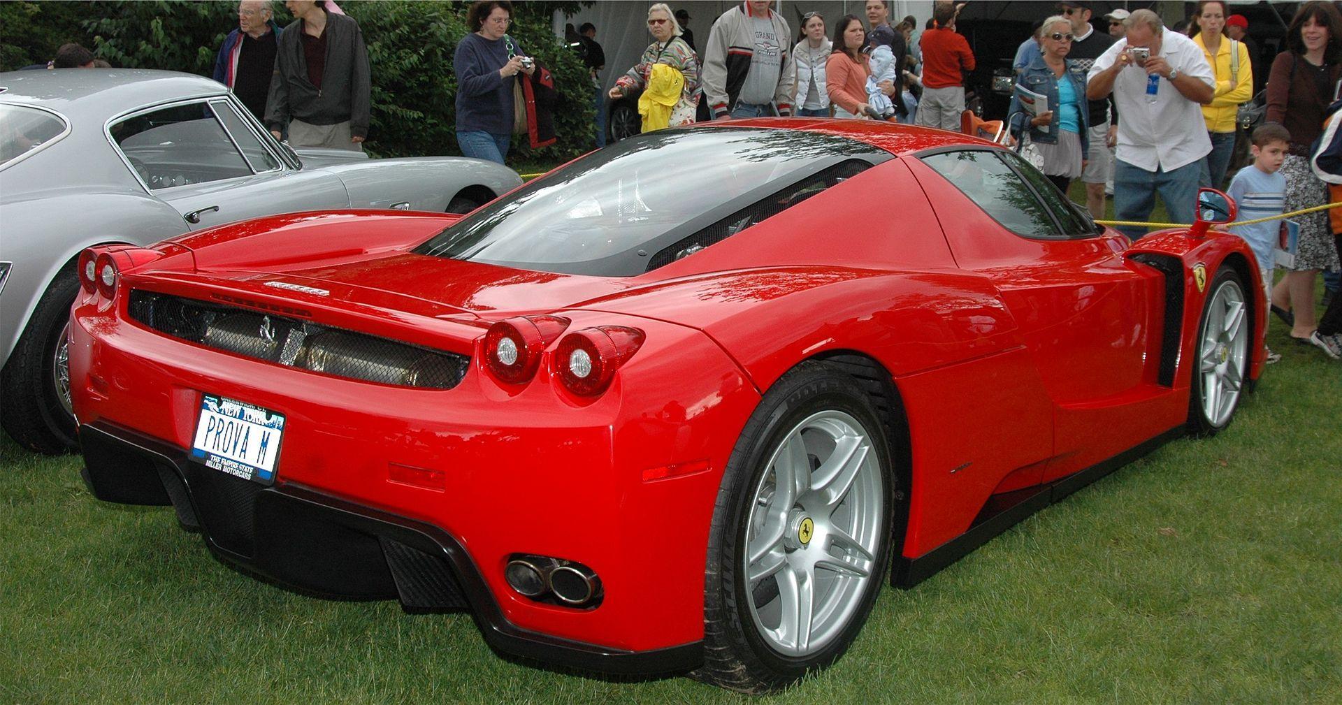 Enzo Rear Enzo Ferrari Automobile Wikipedia Car Ferrari Ferrari Enzo