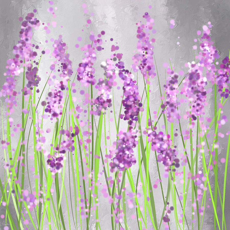 Lavender Blossoms - Lavender Field Painting Painting