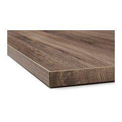Ekbacken Plan De Travail Motif Chene Fonce Oak Worktops Ikea New Countertops