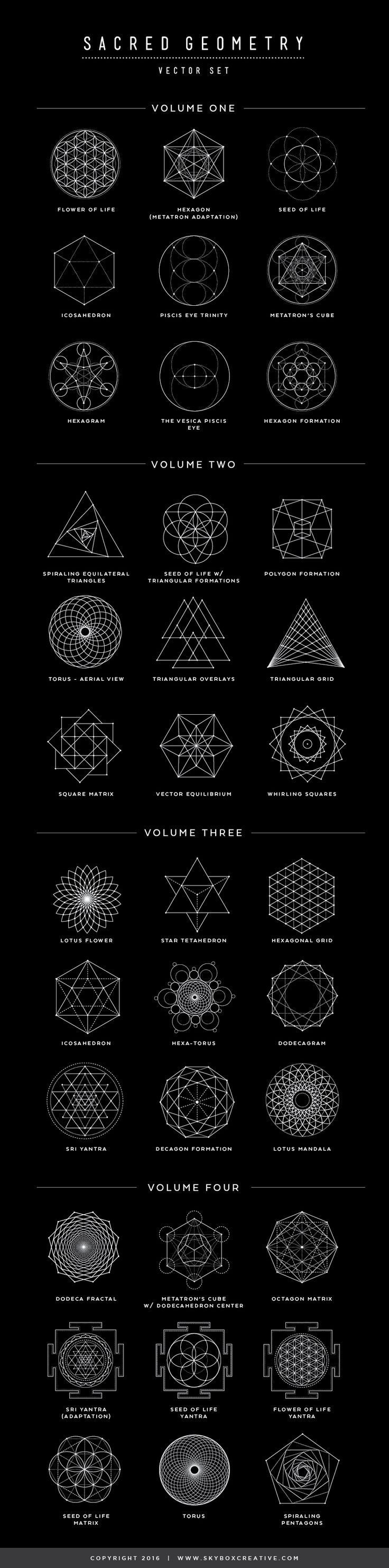 Geometric Tattoo – 2017 trend Geometric Tattoo – Sacred Geometry symbols, their names and meanings-…