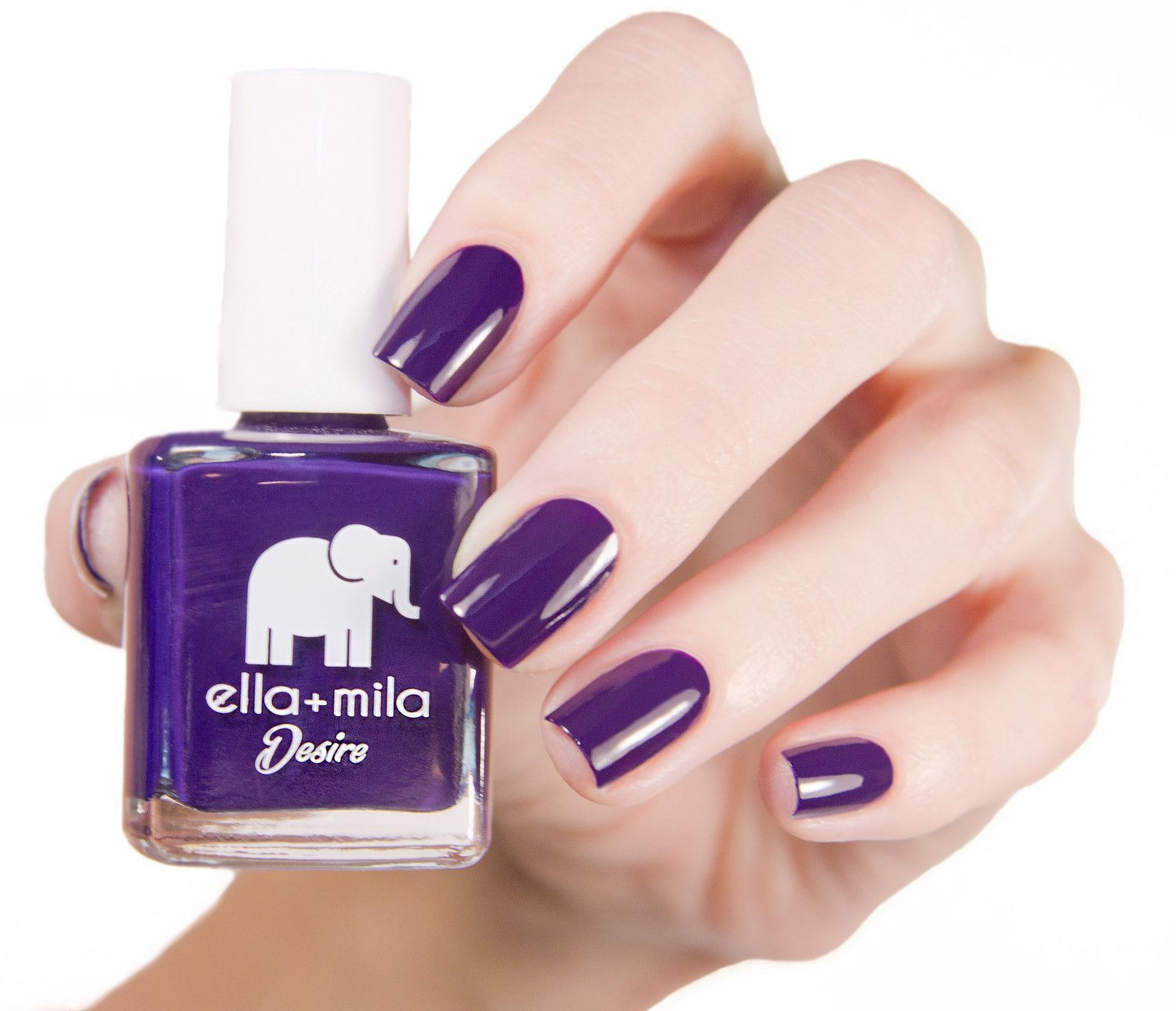This gorgeous dark purple creme is full of attitude, and your nails ...