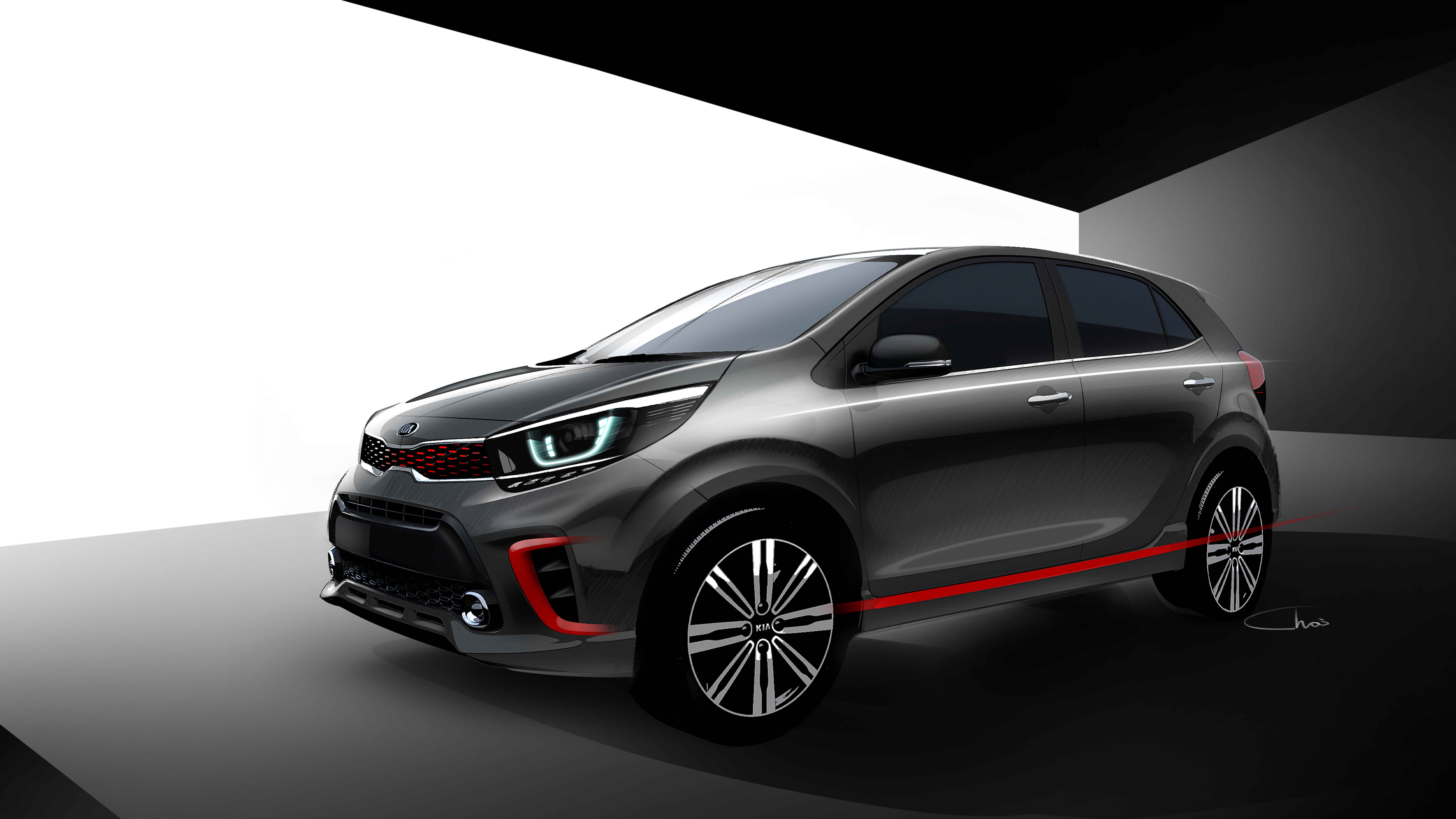 KIA Motors unveils the rendered images of the latest model